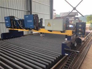 डबल ड्राइव गैन्ट्री सीएनसी प्लाज्मा काटने की मशीन को काटने के लिए ठोस स्टील एच बीम उत्पादन लाइन