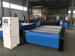 बड़े 2000 * 6000 मिमी सीएनसी धातु शीट पाइप प्लाज्मा काटने ड्रिलिंग मशीन