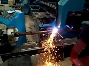 धातु शीट के लिए हवा स्वचालित सीएनसी प्लाज्मा ट्यूब कटर काटने की मशीन